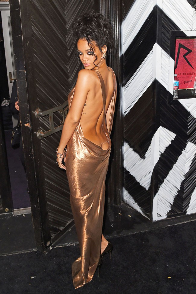Rihanna à l'after-party du MET Ball organisée à New-york le 5 mai 2014