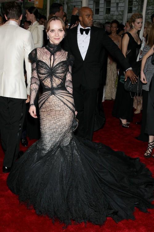 Christina Ricci lors du Met Ball de 2011
