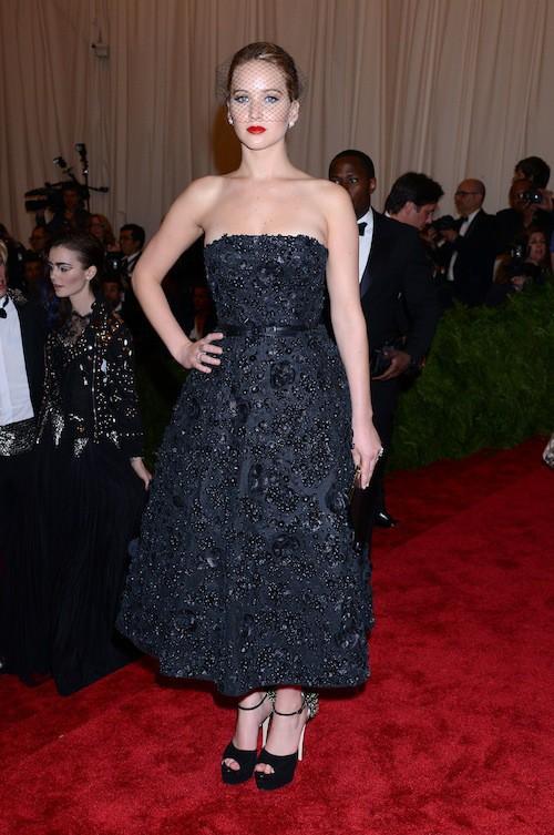 Jennifer Lawrence lors du Met Ball de 2013