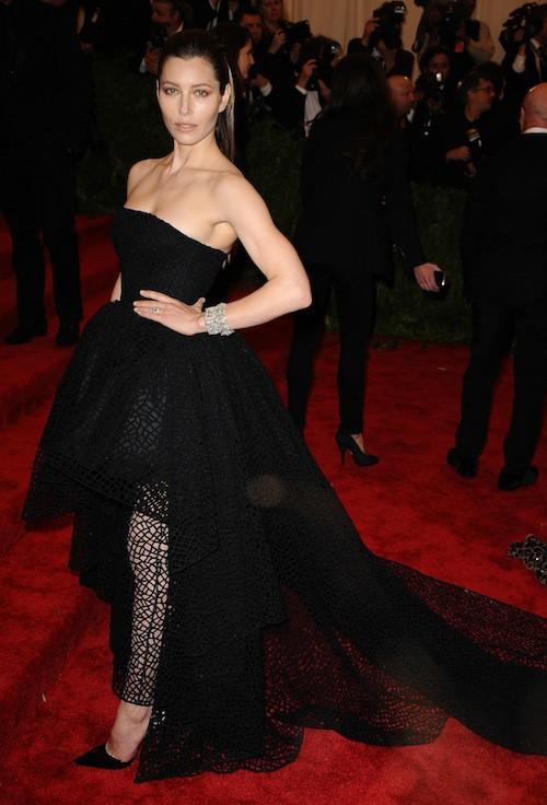 Jessica Biel lors du Met Ball de 2013