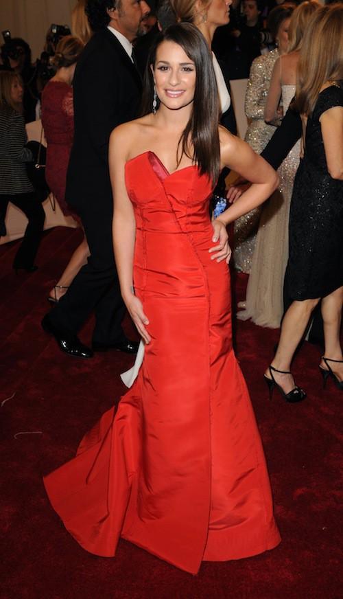 Lea Michele lors du Met Ball de 2011