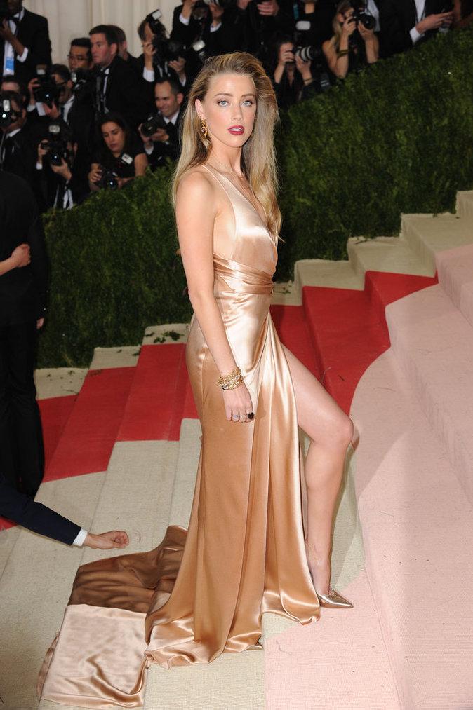 Photos : Met Gala 2016 : Amber Heard accompagne Lily Rose Depp