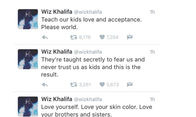 Wiz Khalifa s'exprime sur les meurtres de Philando Castile et Alton Sterling