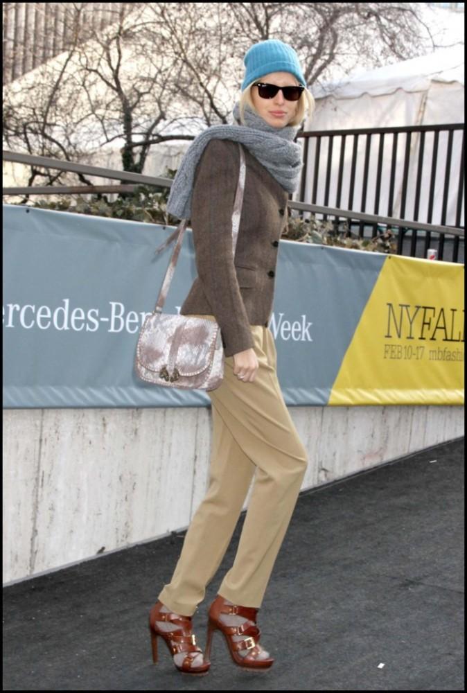 Karolina Kurkova lors de la Mercedes-Benz Fashion Week de New York, le 16 février 2011.