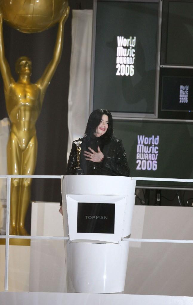 Michael Jackson lors des World Music Awards 2006 à Londres, 15 novembre 2006.