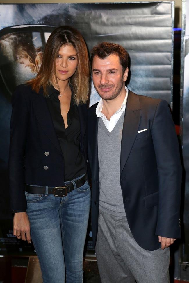 Michaël Youn avec sa compagne Isabelle Funaro pour l'avant-première de La Traversée à Paris le 30 octobre 2012