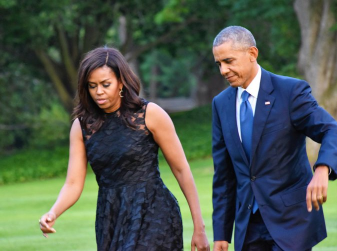 Michelle Obama et Barack Obama de retour à Washington ce mardi 12 juillet 2016