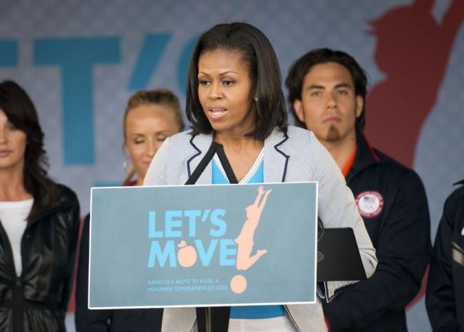 Michelle oeuvre contre l'obésité infantile avec son association Let's Move