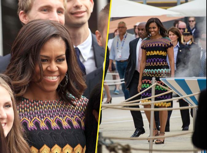 Photos : Michelle Obama : souriante et stylée pour lutter contre l'obésité !