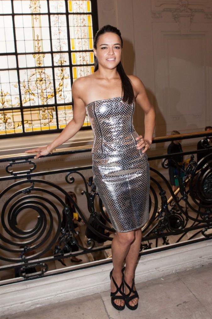 Michelle Rodriguez à Paris, le 8 juillet 2015