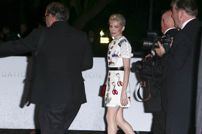 Michelle Williams à l'inauguration de la fondation Louis Vuitton organisée à Paris le 20 octobre 2014
