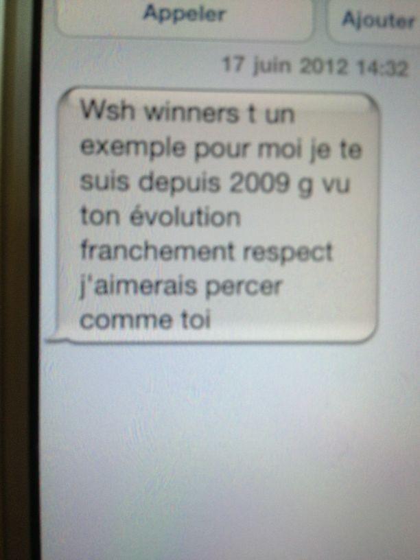 Les sms reçus