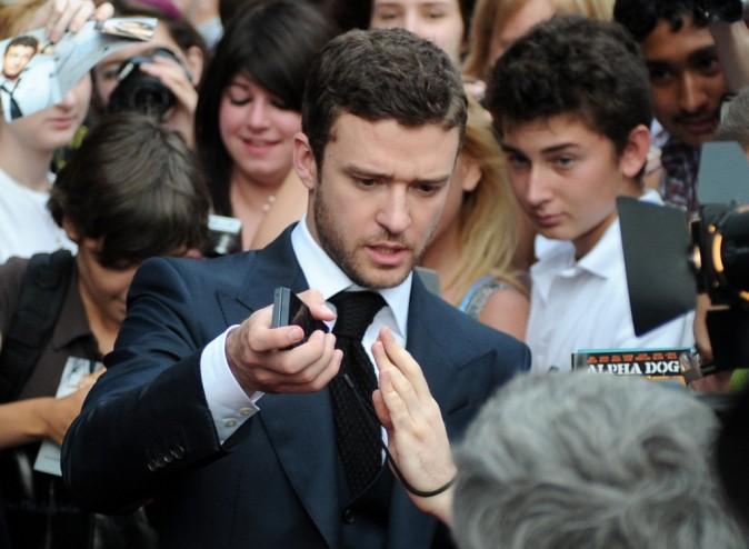 Justin Timberlake lors de la première du film Friends With Benefits à Moscou, le 26 juillet 2011.