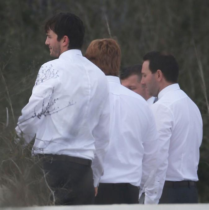 Ashton Kutcher au mariage de son frère Michael organisé à Saint Simon Island, le 1er février 2014