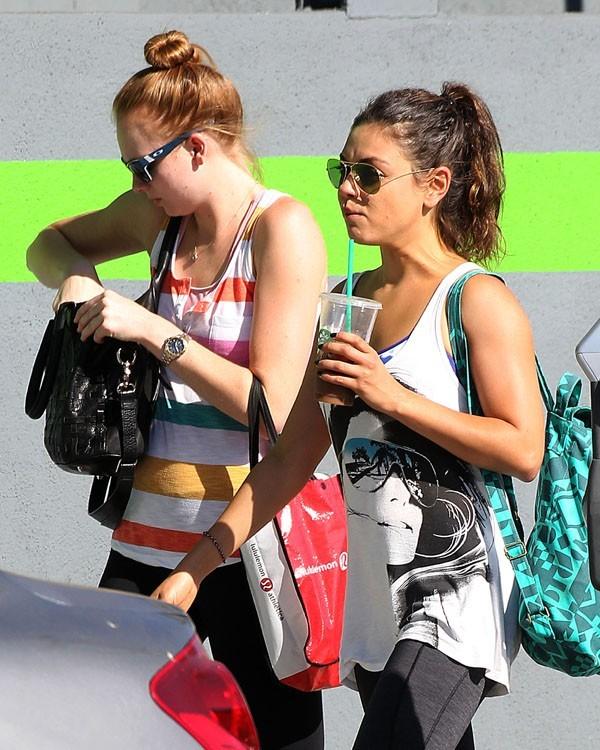 Mila Kunis après sa séance de sport à Los Angeles le 13 août 2012