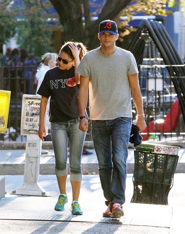 Mila Kunis et Ashton Kutcher à New-York le 23 septembre 2012