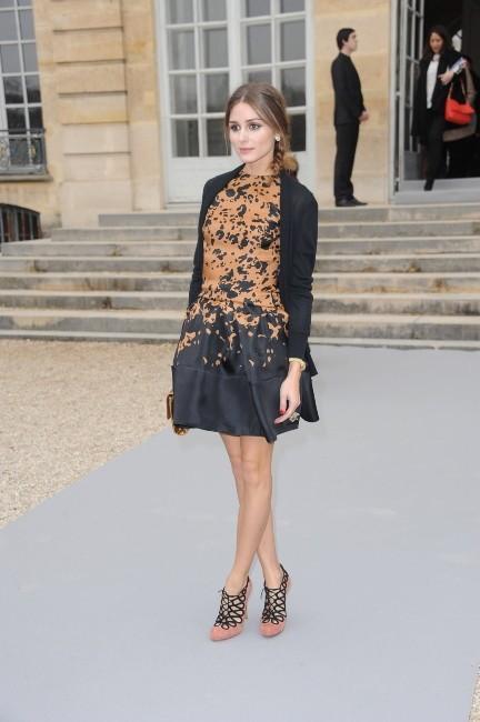 Olivia Palermo au défilé Dior à Paris, le 2 mars 2012.
