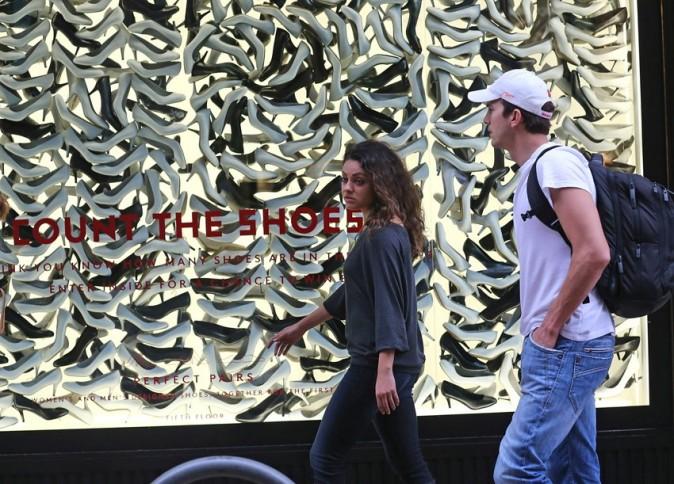 Mila Kunis et Ashton Kutcher à New-York le 18 septembre 2012