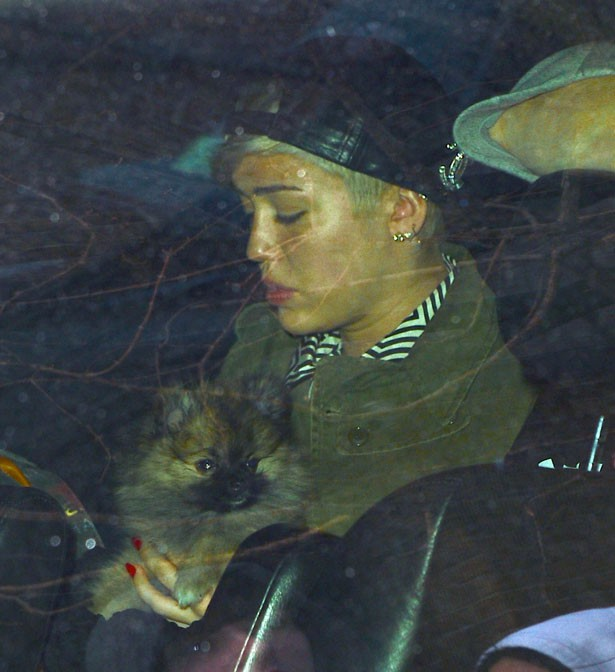 Miley Cyrus à New-York le 5 avril 2014
