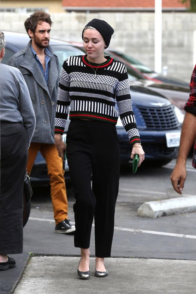 Miley Cyrus à Studio City, en Californie, le 27 janvier 2013