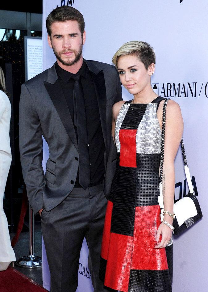 Liam et Miley à l'avant prmiere de Paranoia