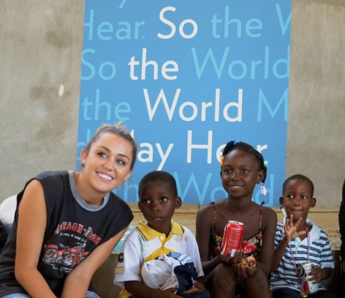 Miley Cyrus ce week-end à Port au Prince ...