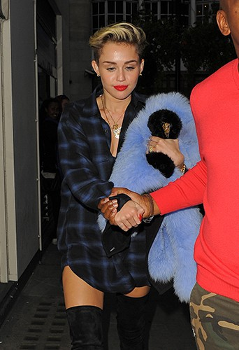 Miley Cyrus à Londres le 10 septembre 2013