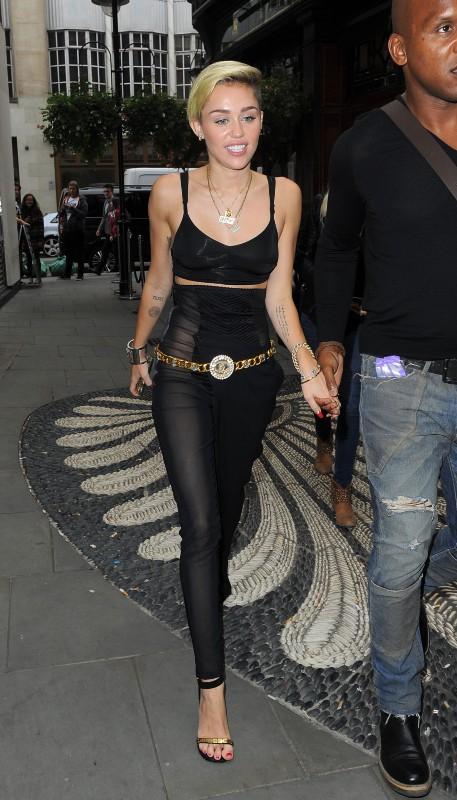 Miley Cyrus en promo à Londres, le 11 septembre 2013.