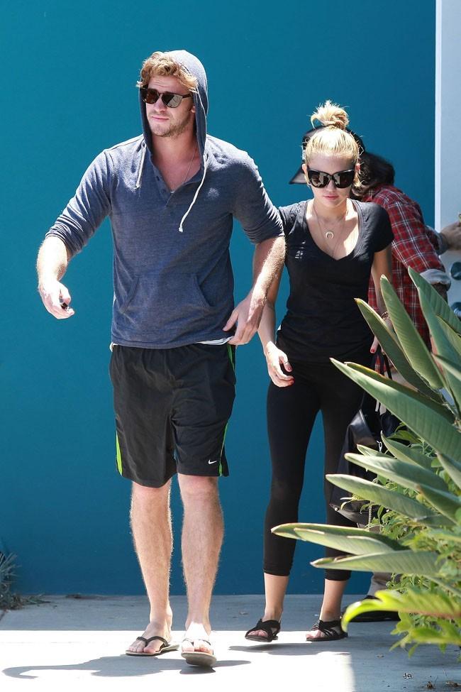 Miley Cyrus et Liam Hemsworth le 16 juillet 2012 à Los Angeles