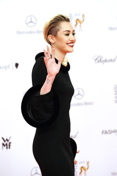 Miley Cyrus lors de la cérémonie des Bambi Awards à Berlin, le 13 novembre 2013.