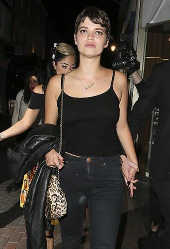 Miley Cyrus, Nicole Scherzinger et Pixie Geldof à Londres le 21 juillet 2013