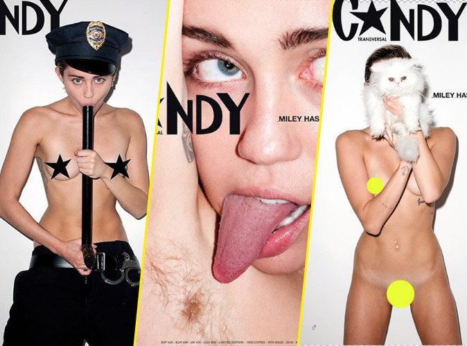 Miley Cyrus pour Candy Magazine