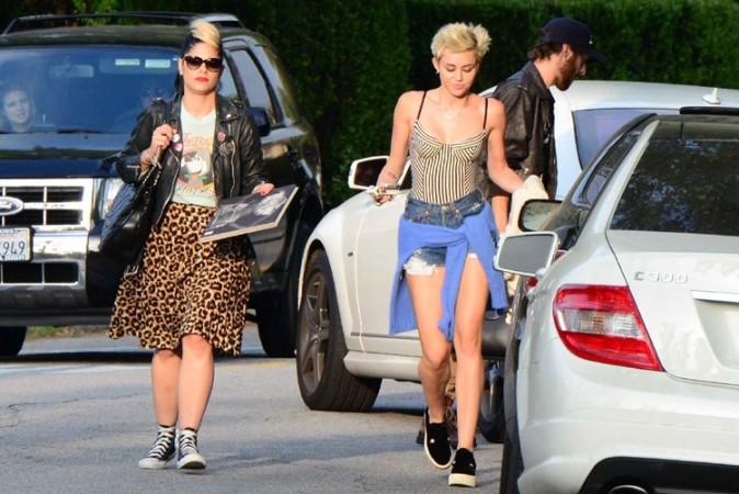 Miley Cyrus avec des amis à Los Angeles le 13 avril 2013