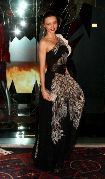 Miranda Kerr lors de la soirée d'inauguration de la boutique Just Cavalli à New York, le 12 décembre 2013.