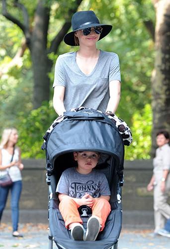 Miranda Kerr et Flynn à New-York le 4 octobre 2013