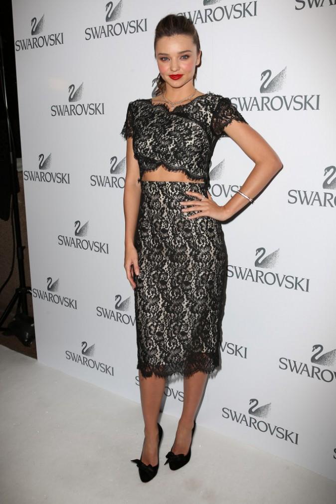 Miranda Kerr lors de la soirée Swarovski à Sydney, le 14 mai 2014.