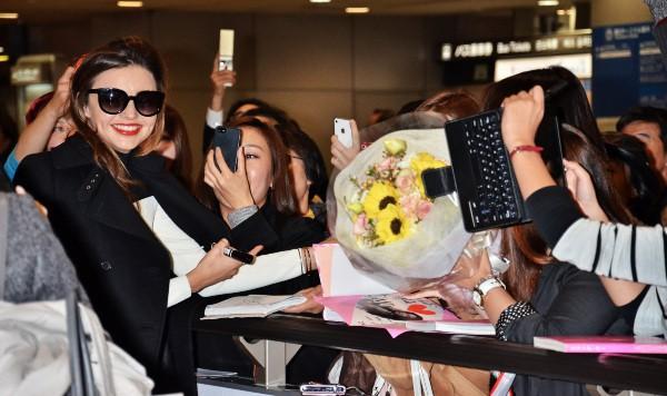 Miranda Kerr au Japon, le 11 novembre 2013.