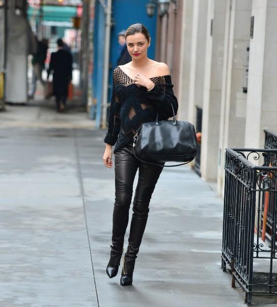 Miranda Kerr à New York, le 19 décembre 2013.