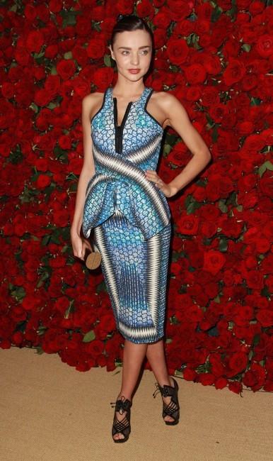 Miranda Kerr lors de la soirée Museum of Modern Art Film benefit à New York, le 15 novembre 2011.