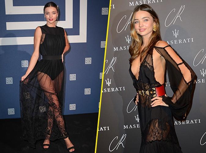 Miranda Kerr : double dose de transparence et le�on de style � Paris !