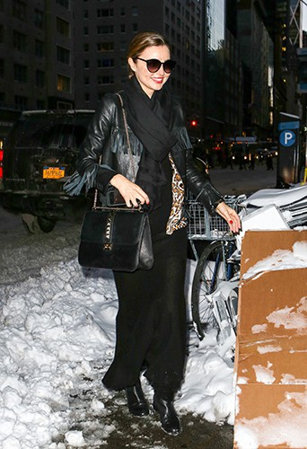 Miranda Kerr à New-York le 3 janvier 2014