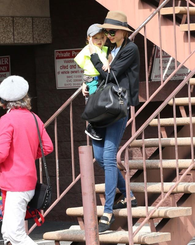 Miranda Kerr, Flynn et Sonia Bloom, Los Angeles, 4 février 2013
