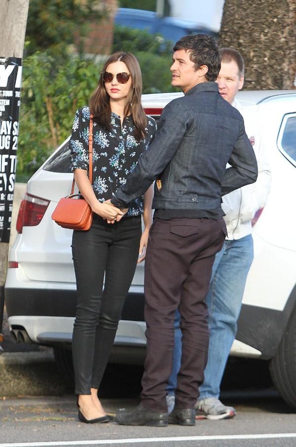 Miranda Kerr et Orlando Bloom à Sydney le 20 août 2012