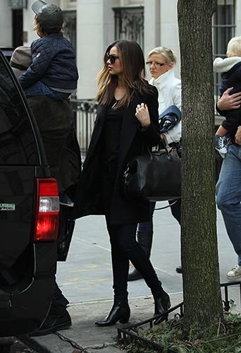 Miranda Kerr et Orlando Bloom en famille à New-York le 24 décembre 2013