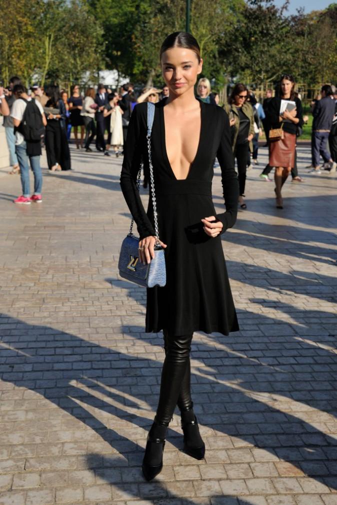 Miranda Kerr au défilé Louis Vuitton le 1er octobre 2014