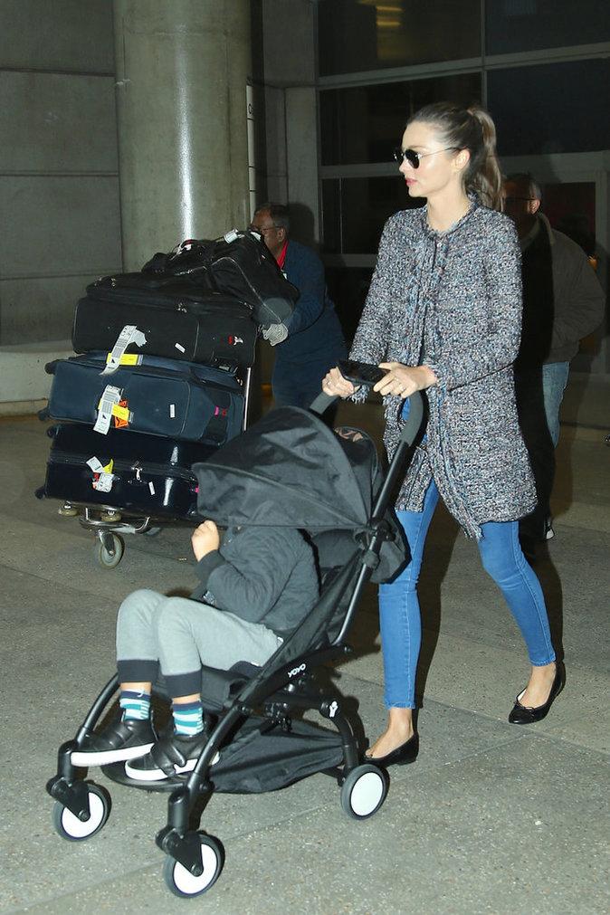 Miranda Kerr cache son fils Flynn