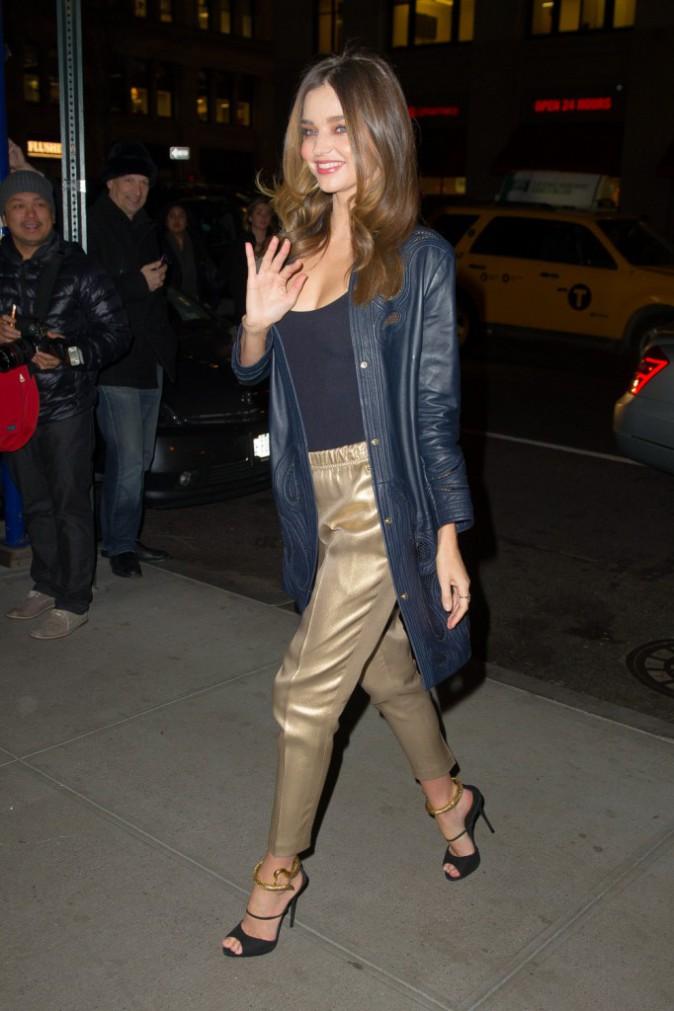 Miranda Kerr à New York le 20 novembre 2014
