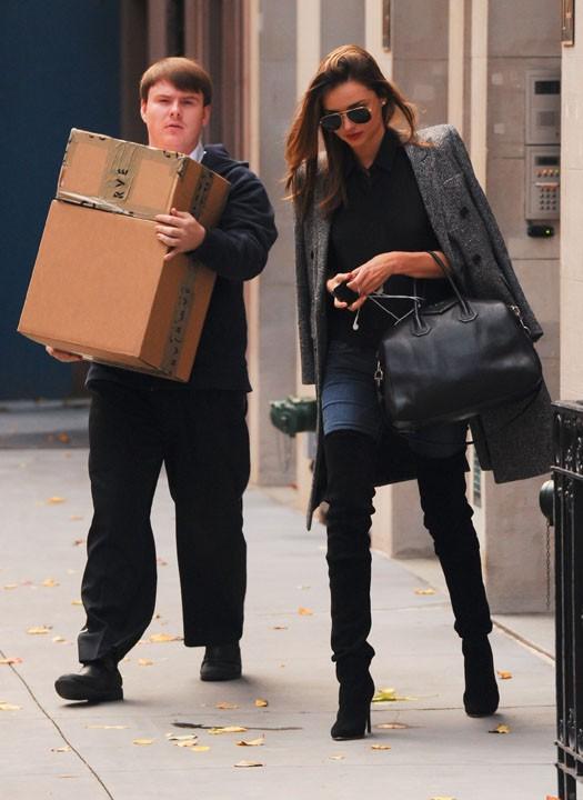 Miranda Kerr à New-York le 23 novembre 2013