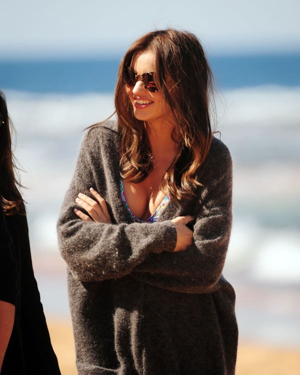 Miranda Kerr en shooting pour David Jones à Sydney le 21 août 2012