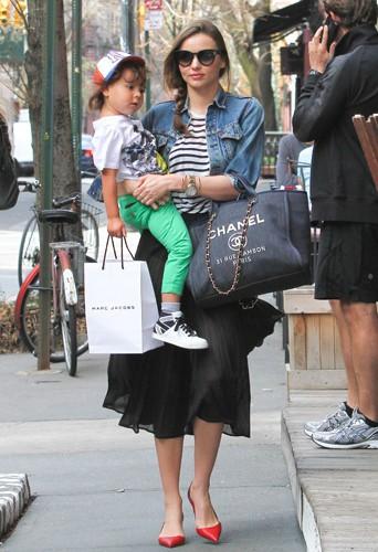 Miranda Kerr et Flynn Bloom à New York le 14 avril 2014